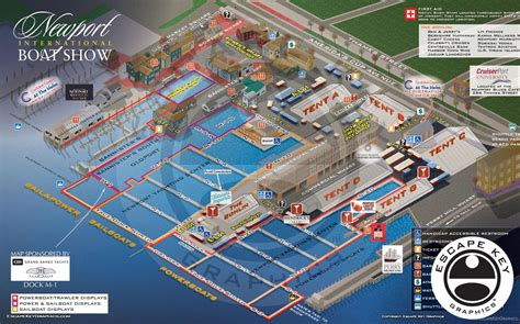 boat show 2017 map illustrated vector map of a boat show