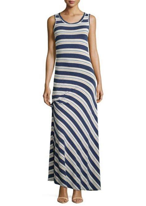 H M Striped Maxi Dress T3010 max studio max studio ruched striped maxi dress dresses