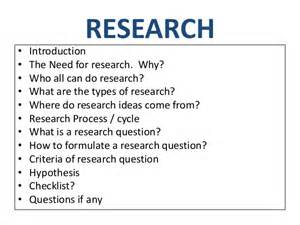 Research Essay Questions by Research Question And Hypothesis