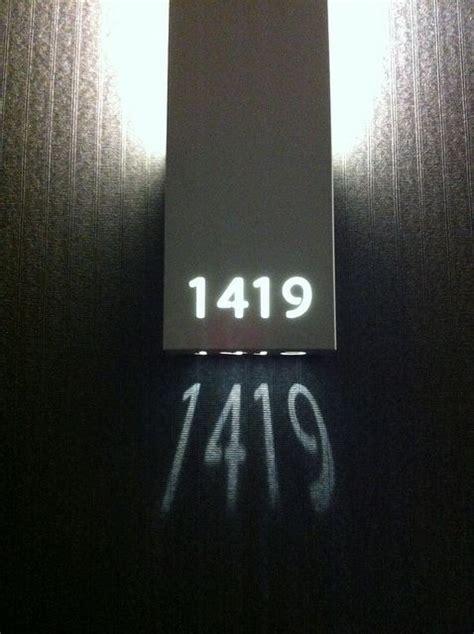 hotel room number signs creative wayfinding signage vida design