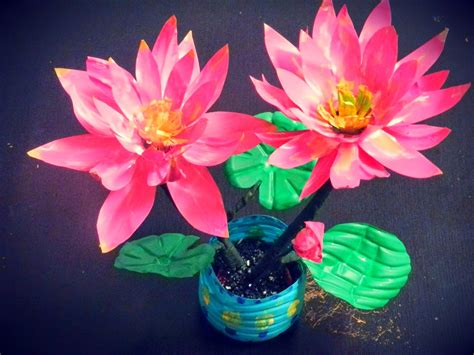 lotus flower paper craft creative diy crafts recycled diy lotus flowers with