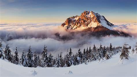 wallpaper slovakia   wallpaper  mountains fog