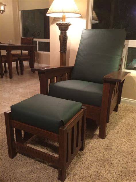 bow arm morris chair ottoman finewoodworking
