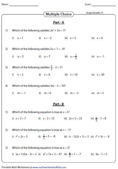 algebraic expressions and equations worksheets for 7th grade evaluating algebraic expression worksheets