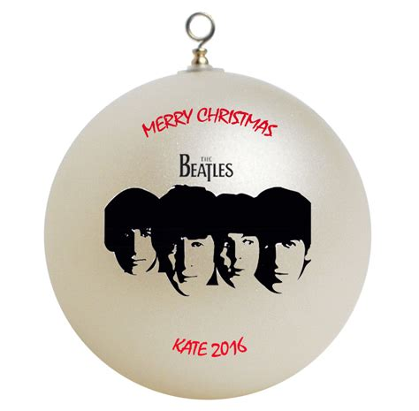 personalized the beatles christmas ornament gift 2