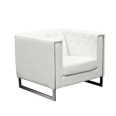 metal sofa leg chelsea leatherette chair with metal leg by diamond sofa