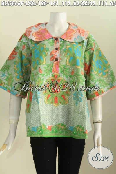 Pakaian Jaket Wanita Bunny Hijau baju blus motif bunga pakaian batik hijau proses printing
