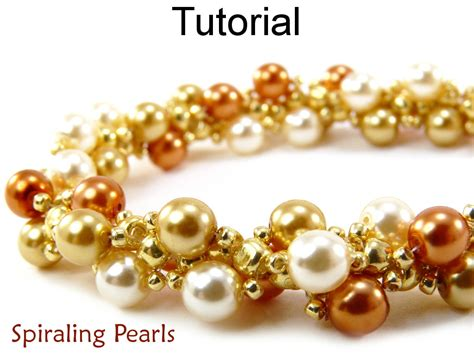 beading tutorial pattern bracelet necklace spiral stitch