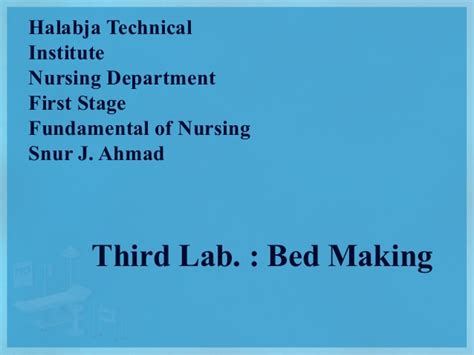 fundamental of nursing 3 bed