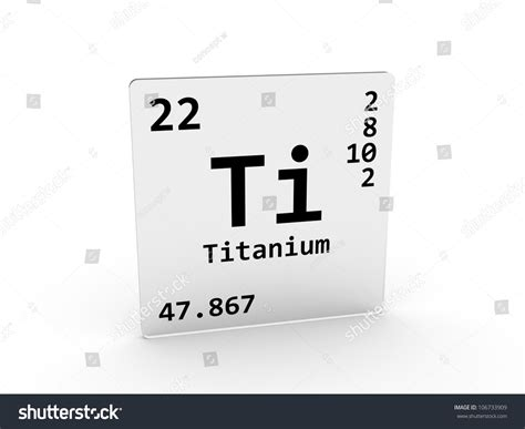 Titanium On Periodic Table by Titanium Symbol Ti Element Periodic Table Stock