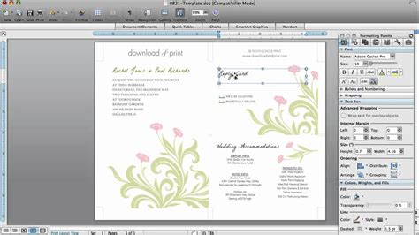 card in microsoft word how to make wedding invitations in microsoft word