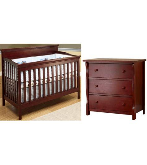 dresser drawer for baby bed sb2 katherine 2 piece nursery set in merlot crib