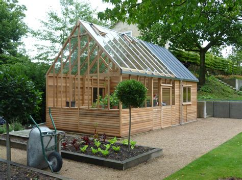 design your own green home cedar home office and greenhouse