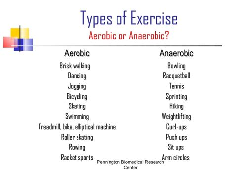 exles of aerobic and anaerobic exercise gluten free