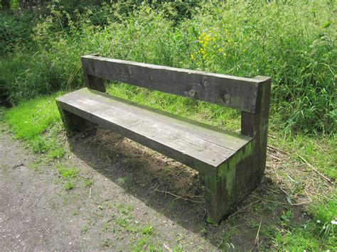 wooden park bench plans file wooden bench at rivacre country park jpg wikimedia