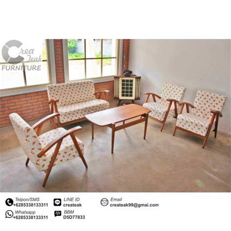 Kursi Tamu Teras Makan Minimalis Santai Jati Jepara set kursi tamu retro minimalis createak furniture createak furniture