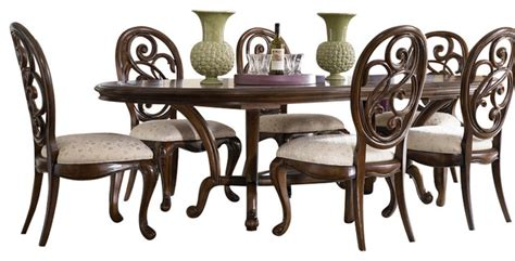 jessica mcclintock dining room set american drew jessica mcclintock 8 piece oval side dining