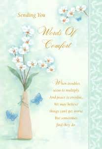 comforting words sympathy cards like success