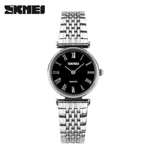 Jam Tangan Wanita Skmei Stainless W 2010 skmei jam tangan analog wanita 9105cs black jakartanotebook