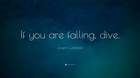 dive meaning joseph cbell quote if you are falling dive