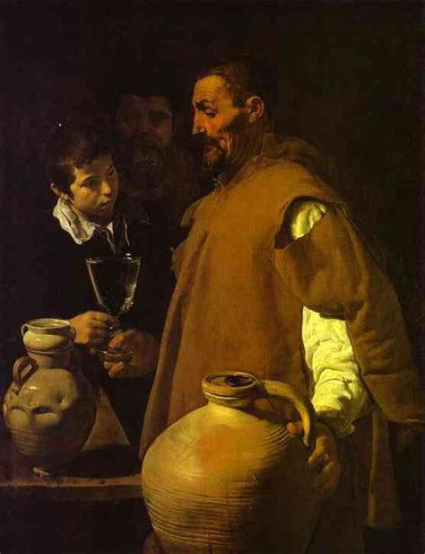diego painting the waterseller in seville diego velazquez painting
