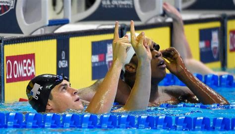 olympic eve lawrence swimming phenom michael andrew advances to finals in first