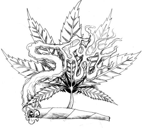 weed leaf coloring pages weed tattoo art similar deviations projects to try