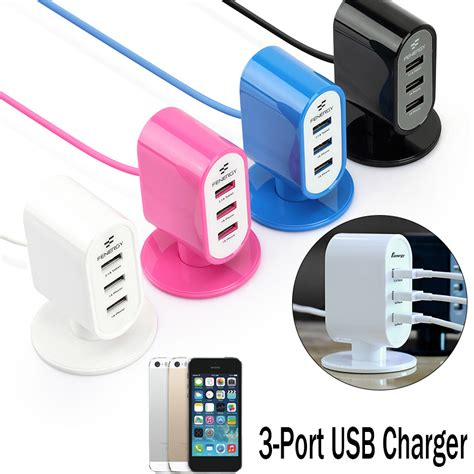 Official Robotsky 3 Ports Usb Wall Charger 5v Max 2 4a 100v 240v 5v 3 ports usb wall home travel charger adapter