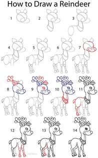How To Draw A Step By Step Easy How To Draw A Reindeer Step By Step Pictures Cool2bkids