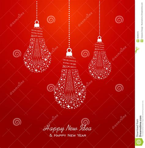 happy new year and ideas 2014 greeting card royalty free