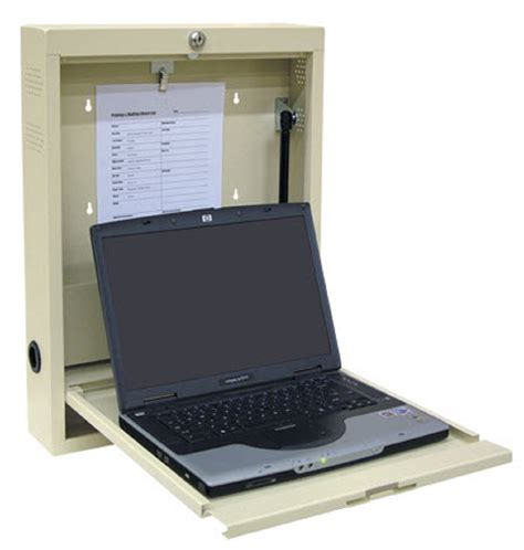laptop desk station locking laptop wall desk work station