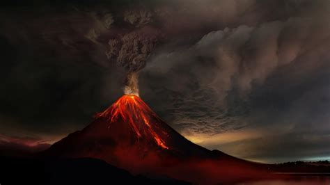 volcano background volcanic eruption hd wallpaper wallpaper studio 10