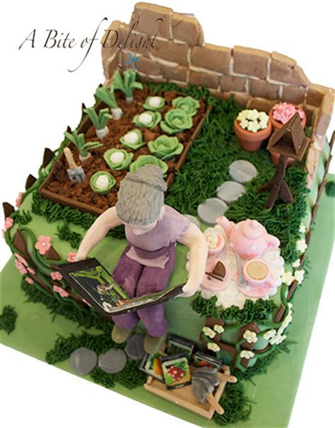 Garden Themed Cake   A Bite of Delight