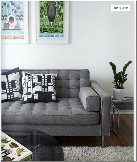 wide seat couch grey tufted wide seat sofa yes for the home pinterest
