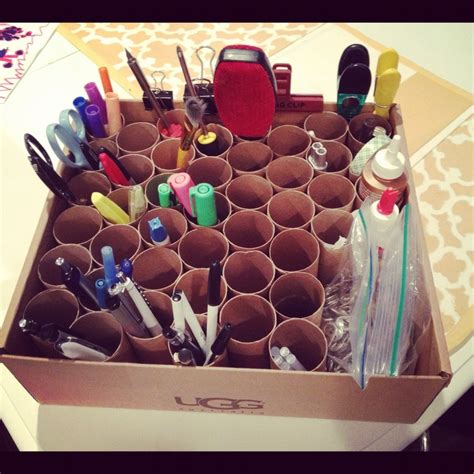 Toilet Paper Roll Desk Organizer by 17 Best Images About Toilet Paper Diys On