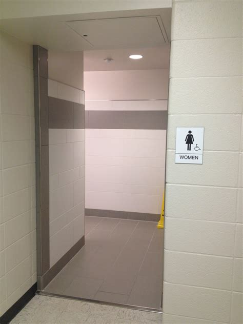 bathroom or restroom concealing the unmentionable sight sense and the public