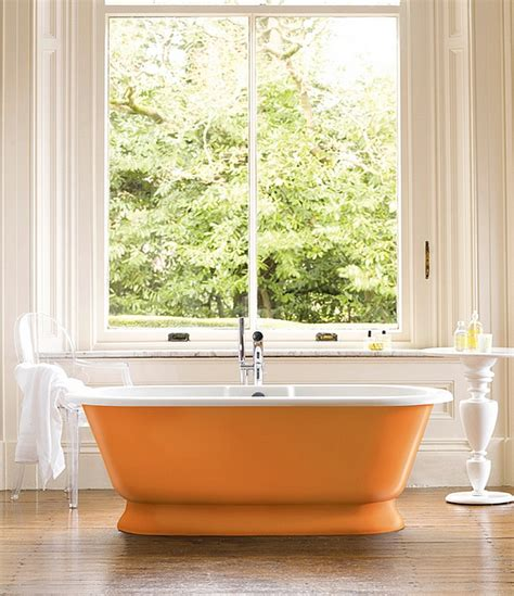 orange in bathtub hot bathroom trends freestanding bathtubs bring home the spa retreat decor advisor