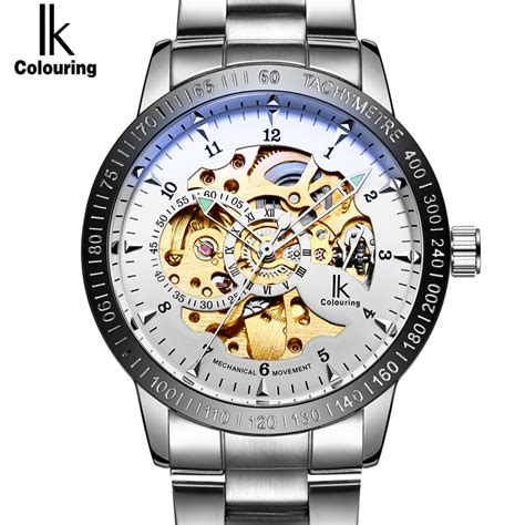 Jam Luxury S Skeleton Stainless Steel Transparent Hollow Leather W ik colouring reviews shopping ik colouring reviews on aliexpress