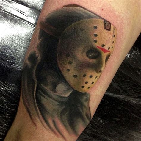jason voorhees tattoo 30 amazing leg and thigh tattoos