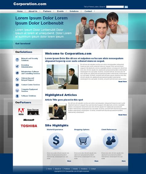 Corporative Website I Dreamweaver Templates Dreamweaver Website Templates
