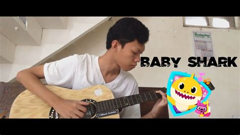baby shark guitar baby shark pinkfong cover fingerstyle guitar with