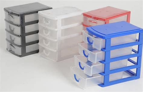 Small Plastic Storage Boxes With Drawers by Mini 4 Drawer Plastic Storage Box Jewellery Craft