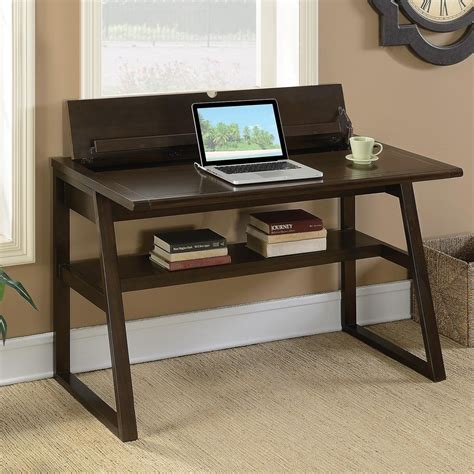 coaster transitional writing desk with outlet rife s