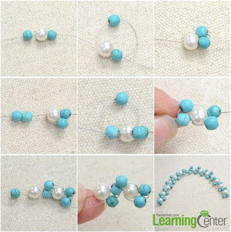 how to make cool bead bracelets a cool diagonal striped bracelet with turquoise and