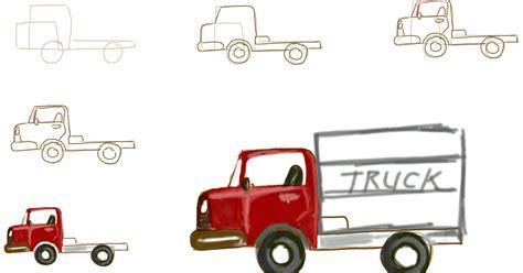 cara menggambar mobil truk