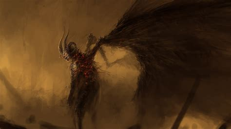 wallpaper dark devil artwork dark demons devil fantasy art fire hell horns