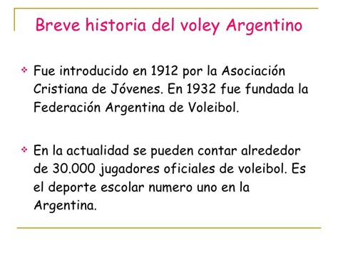 breve historia da la power point voley