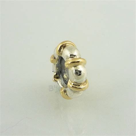 14k gold spacer authentic pandora s silver 14k gold seattle spacer ebay