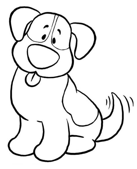 easy printable animal coloring pages simple drawing of dogs clipart best