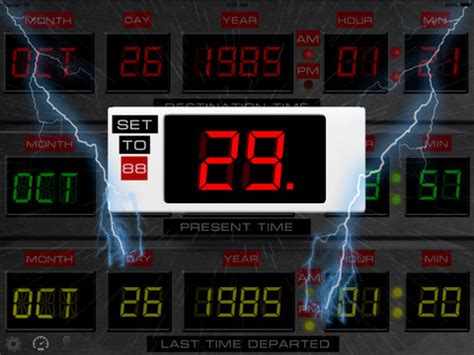flux capacitor screensaver time circuits dashboard clock on the app store
